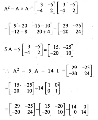 ML Aggarwal Class 10 Solutions for ICSE Maths Chapter 9 Matrices Chapter Test Q8.1