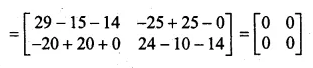 ML Aggarwal Class 10 Solutions for ICSE Maths Chapter 9 Matrices Chapter Test Q8.2