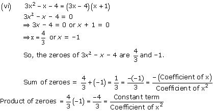 NCERT Solutions for Class 10 Maths Chapter 2 Polynomials 8