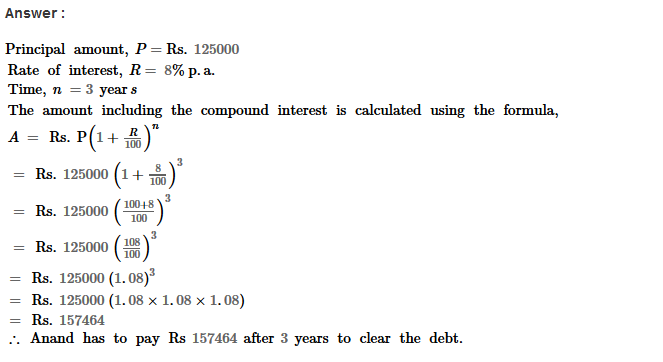 Compound Interest RS Aggarwal Class 8 Maths Solutions Ex 11B 10.1