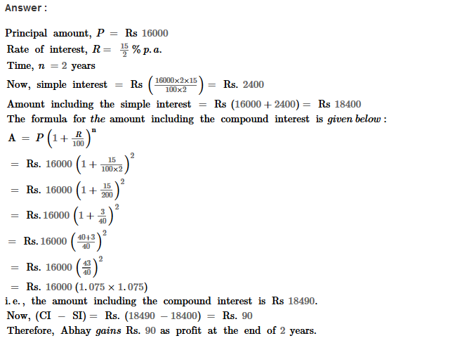 Compound Interest RS Aggarwal Class 8 Maths Solutions Ex 11B 14.1