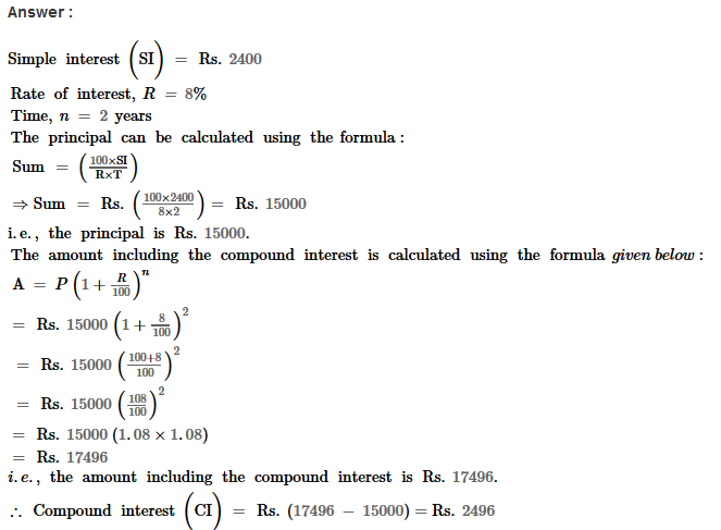 Compound Interest RS Aggarwal Class 8 Maths Solutions Ex 11B 15.1