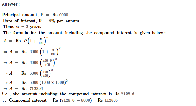 Compound Interest RS Aggarwal Class 8 Maths Solutions Ex 11B 3.1
