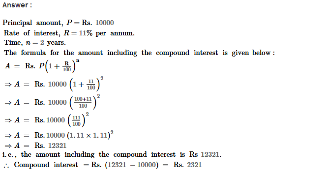 Compound Interest RS Aggarwal Class 8 Maths Solutions Ex 11B 4.1