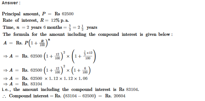 Compound Interest RS Aggarwal Class 8 Maths Solutions Ex 11B 7.1