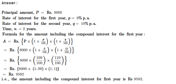 Compound Interest RS Aggarwal Class 8 Maths Solutions Ex 11B 9.1
