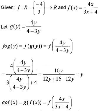 Plus Two Maths Chapter Wise Questions and Answers Chapter 1 Relations and Functions 3M Q11.1