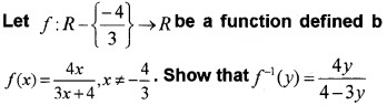 Plus Two Maths Chapter Wise Questions and Answers Chapter 1 Relations and Functions 3M Q11
