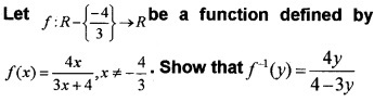 Plus Two Maths Chapter Wise Questions and Answers Chapter 1 Relations and Functions 3M Q3