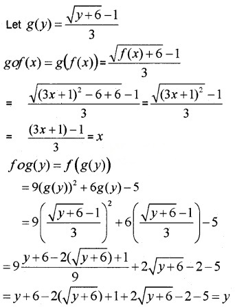Plus Two Maths Chapter Wise Questions and Answers Chapter 1 Relations and Functions 3M Q9