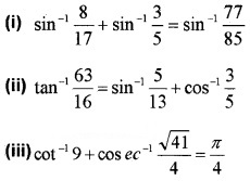 Plus Two Maths Chapter Wise Questions and Answers Chapter 2 Inverse Trigonometric Functions 3M Q1