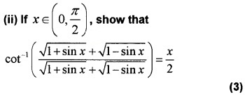 Plus Two Maths Chapter Wise Questions and Answers Chapter 2 Inverse Trigonometric Functions 4M Q6.1