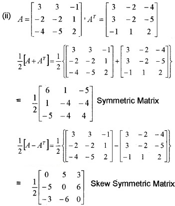 Plus Two Maths Chapter Wise Questions and Answers Chapter 3 Matrices 3M Q11.2