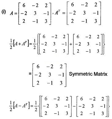 Plus Two Maths Chapter Wise Questions and Answers Chapter 3 Matrices 3M Q11