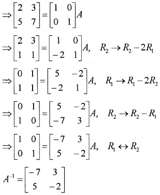 Plus Two Maths Chapter Wise Questions and Answers Chapter 3 Matrices 3M Q7.1