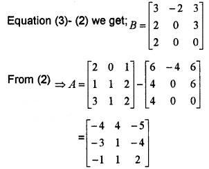 Plus Two Maths Chapter Wise Questions and Answers Chapter 3 Matrices 4M Q2.2