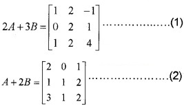 Plus Two Maths Chapter Wise Questions and Answers Chapter 3 Matrices 4M Q2
