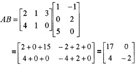 Plus Two Maths Chapter Wise Questions and Answers Chapter 3 Matrices 4M Q6.1