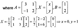 Plus Two Maths Chapter Wise Questions and Answers Chapter 3 Matrices 6M Q6.3