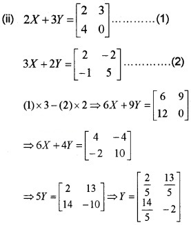 Plus Two Maths Chapter Wise Questions and Answers Chapter 3 Matrices 6M Q9.2