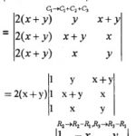Plus Two Maths Chapter Wise Questions and Answers Chapter 4 Determinants 3M Q1