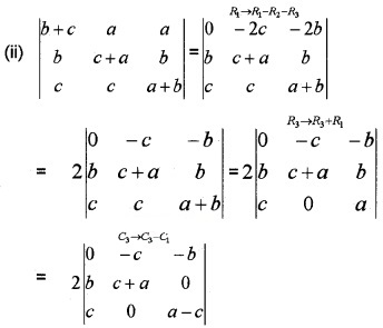 Plus Two Maths Chapter Wise Questions and Answers Chapter 4 Determinants 3M Q6.3