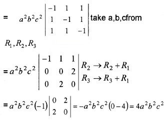 Plus Two Maths Chapter Wise Questions and Answers Chapter 4 Determinants 4M Q1