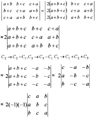 Plus Two Maths Chapter Wise Questions and Answers Chapter 4 Determinants 4M Q4