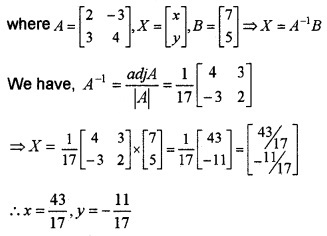 Plus Two Maths Chapter Wise Questions and Answers Chapter 4 Determinants 4M Q6.1