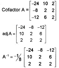 Plus Two Maths Chapter Wise Questions and Answers Chapter 4 Determinants 6M Q10.1