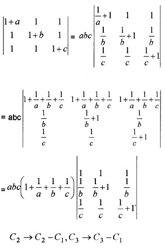 Plus Two Maths Chapter Wise Questions and Answers Chapter 4 Determinants 6M Q2.1
