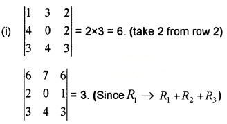 Plus Two Maths Chapter Wise Questions and Answers Chapter 4 Determinants 6M Q2