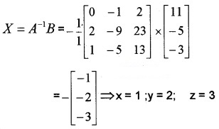 Plus Two Maths Chapter Wise Questions and Answers Chapter 4 Determinants 6M Q3.2
