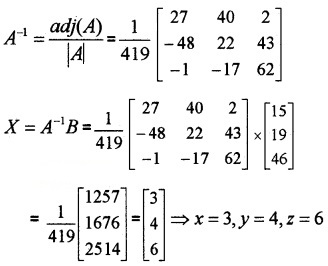 Plus Two Maths Chapter Wise Questions and Answers Chapter 4 Determinants 6M Q5.2