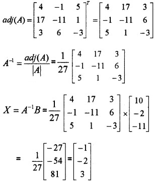 Plus Two Maths Chapter Wise Questions and Answers Chapter 4 Determinants 6M Q5.3