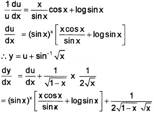 Plus Two Maths Chapter Wise Questions and Answers Chapter 5 Continuity and Differentiability 4M Q9.8