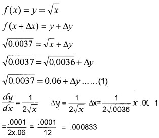Plus Two Maths Chapter Wise Questions and Answers Chapter 6 Application of Derivatives 4M Q15