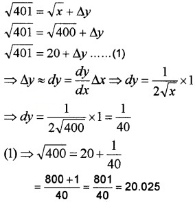 Plus Two Maths Chapter Wise Questions and Answers Chapter 6 Application of Derivatives 4M Q22