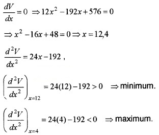 Plus Two Maths Chapter Wise Questions and Answers Chapter 6 Application of Derivatives 6M Q11.2