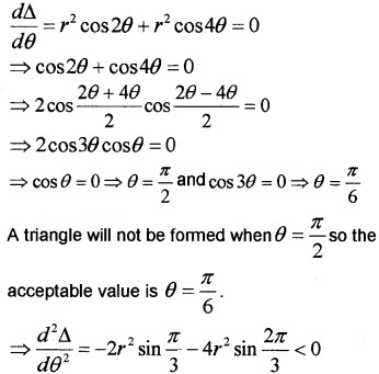 Plus Two Maths Chapter Wise Questions and Answers Chapter 6 Application of Derivatives 6M Q14.2