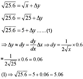 Plus Two Maths Chapter Wise Questions and Answers Chapter 6 Application of Derivatives 6M Q2.2