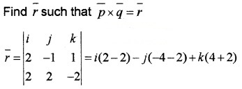 Plus Two Maths Chapter Wise Questions and Answers Chapter 10 Vector Algebra 3M Q5