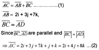 Plus Two Maths Chapter Wise Questions and Answers Chapter 10 Vector Algebra 6M Q4.2