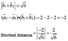Plus Two Maths Chapter Wise Questions and Answers Chapter 11 Three Dimensional Geometry 6M Q6.3