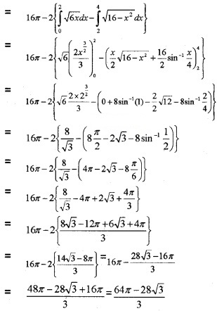 Plus Two Maths Chapter Wise Questions and Answers Chapter 8 Application of Integrals 6M Q9.3