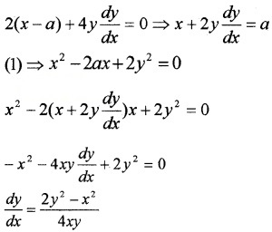 Plus Two Maths Chapter Wise Questions and Answers Chapter 9 Differential Equations 3M Q4