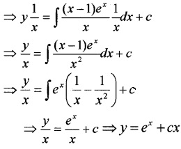 Plus Two Maths Chapter Wise Questions and Answers Chapter 9 Differential Equations 4M Q7.1