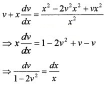 Plus Two Maths Chapter Wise Questions and Answers Chapter 9 Differential Equations 4M Q9.1