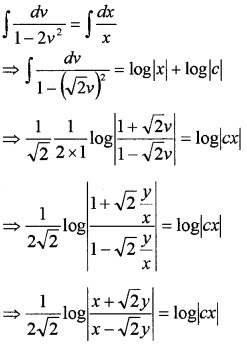 Plus Two Maths Chapter Wise Questions and Answers Chapter 9 Differential Equations 4M Q9.2
