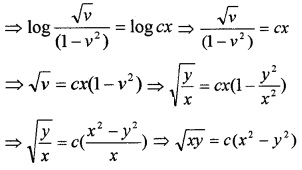 Plus Two Maths Chapter Wise Questions and Answers Chapter 9 Differential Equations 6M Q1.2